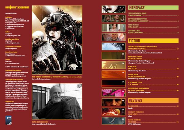 Interzone 262 Contents